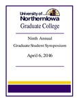 Ninth Annual Graduate Student Symposium [Program], 2016 by University of Northern Iowa