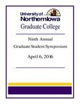 Ninth Annual Graduate Student Symposium [Program], 2016