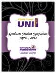 Eighth Annual UNI Graduate Student Symposium [Program], 2015