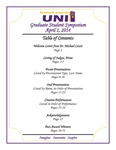 Seventh Annual UNI Graduate Student Symposium [Program], 2014 by University of Northern Iowa