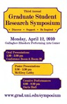 Third Annual Graduate Student Research Symposium [Program], 2010 by University of Northern Iowa
