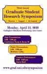 Third Annual Graduate Student Research Symposium [Program], 2010