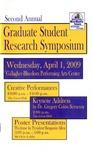 Second Annual Graduate Student Research Symposium [Program], 2009