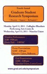 Fourth Annual Graduate Student Research Symposium [Program], 2011 by University of Northern Iowa