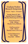 Fifth Annual Graduate Student Research Symposium [Program], 2012