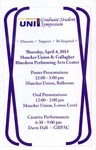 Sixth Annual UNI Graduate Student Symposium [Program], 2013 by University of Northern Iowa