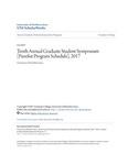 Tenth Annual Graduate Student Symposium [Panelist Program Schedule], 2017