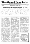 The Alumni News Letter, v5n4, October 1, 1921