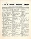 Supplement to The Alumni News Letter, v2n2, April 1, 1918