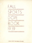 Fall Sports Dope Book 1939 by Iowa State Teachers College