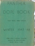 Panther Dope Book for Press and Radio Winter 1947-48 by Iowa State Teachers College