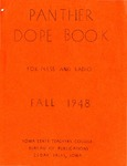 Panther Dope Book for Press and Radio Fall 1948 by Iowa State Teachers College