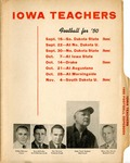 Iowa Teachers 1950 Football Dopebook by Iowa State Teachers College