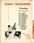 Iowa Teachers 1951 Wrestling Dopebook