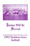 1992 Northern Iowa Softball by University of Northern Iowa