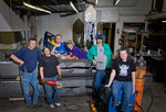 Bower work group on sculpture destined for Panther Village