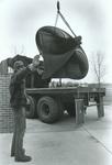 Unloading ITC sculpture April 1979