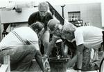 Porta Largo artist and crew August 1985 by Bill Witt