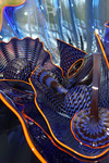 Zephyr Blue Persian Set with Tangerine Lip Wraps created by Dale Chihuly