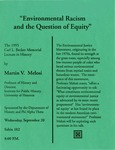 The 1995 Carl L. Becker Memorial Lecture in History: Environmental Racism and the Question of Equity