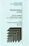 The Carl L. Becker Memorial Lectures in History 20th Annual Lecture: The Revolution of Life