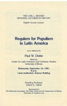 The Carl L. Becker Memorial Lectures in History, Eighth Annual Lecture: Requiem for Populism in Latin America