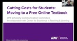 Cutting Costs for Students: Moving to a Free Online Textbook