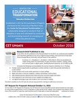 CET Update, October 2016 by University of Northern Iowa. Center for Educational Transformation.