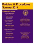 UNI Schedule of Classes, Summer 2019