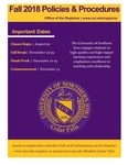 UNI Schedule of Classes, Fall 2018 by University of Northern Iowa