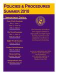 UNI Schedule of Classes, Summer 2018