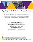UNI Schedule of Classes, Spring 2016
