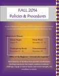 UNI Schedule of Classes, Fall 2014 by University of Northern Iowa