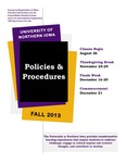 UNI Schedule of Classes, Fall 2013 by University of Northern Iowa