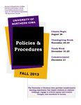 UNI Schedule of Classes, Fall 2013
