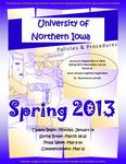 UNI Schedule of Classes, Spring 2013