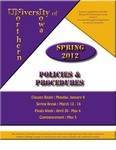 UNI Schedule of Classes, Spring 2012 by University of Northern Iowa
