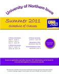 UNI Schedule of Classes, Summer 2011 by University of Northern Iowa