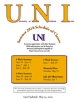 UNI Schedule of Classes, Summer 2010 by University of Northern Iowa