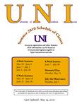 UNI Schedule of Classes, Summer 2010
