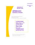 UNI Schedule of Classes, Spring 2010