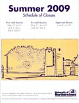 UNI Schedule of Classes, Summer 2009