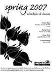 UNI Schedule of Classes, Spring 2007