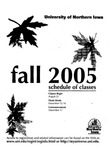 UNI Schedule of Classes, Fall 2005 by University of Northern Iowa