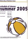 UNI Schedule of Classes, Summer 2005
