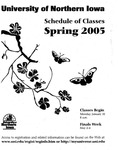 UNI Schedule of Classes, Spring 2005 by University of Northern Iowa