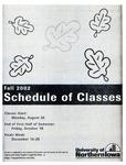 UNI Schedule of Classes, Fall 2002