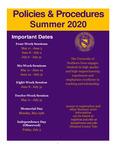 UNI Schedule of Classes, Summer 2020