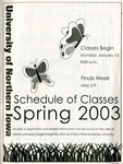 UNI Schedule of Classes, Spring 2003 by University of Northern Iowa