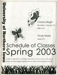 UNI Schedule of Classes, Spring 2003